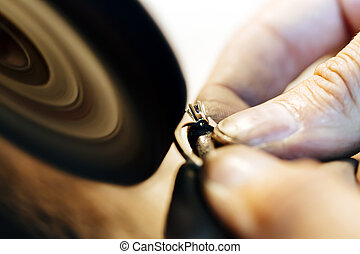 Jewelery polishing ring