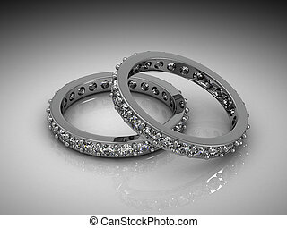 Jewelery ring on a white background.