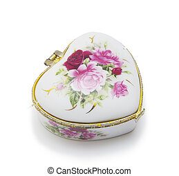 jewellery box isolated on a white