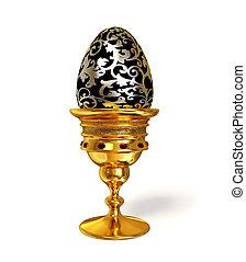 egg - jewellery egg in gold cap