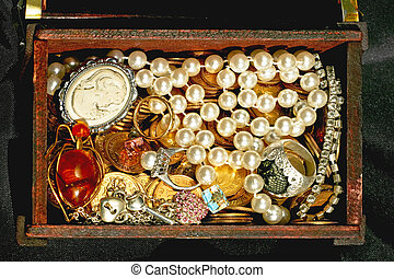Jewellery in chest