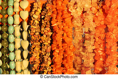Jewellery of semi-precious stones