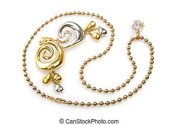 Jewellery on the white background