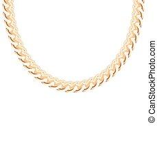 jewelry., 金, ベクトル, 鎖, イラスト
