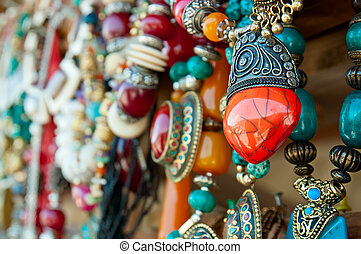 Jewelry at market in Mtsheta, the tourist capital of Georgia