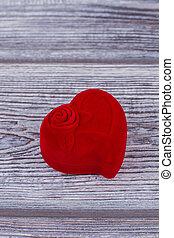 Jewelry box in a shape of heart.