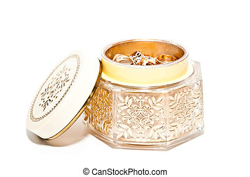 jewelry box isolated on a white background