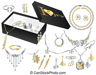 jewelry box on white background