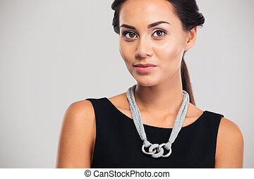 Portrait of a fashion female model