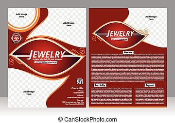 jewelry design flyer design