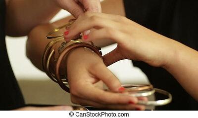jewelry designed bracelets - Shot of jewelry designed...