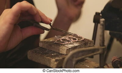 Jewelry Designer at her workshop