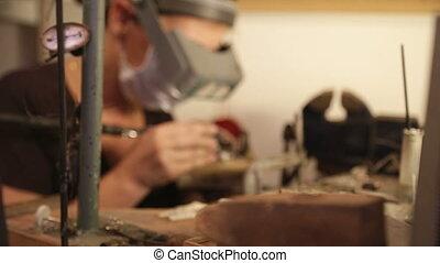 Jewelry Designer At Workshop