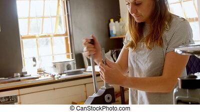 Jewelry designer working in workshop 4k - Female jewelry ...