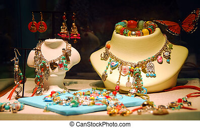 Jewelry - Fashion jewelry displayed in a jewelry store ...