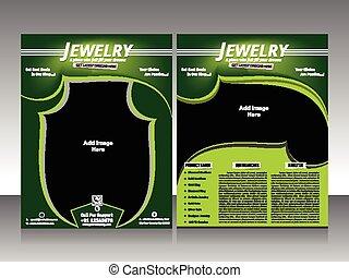 jewelry flyer design & brochure