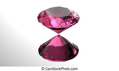 Jewelry gems roung shape on black