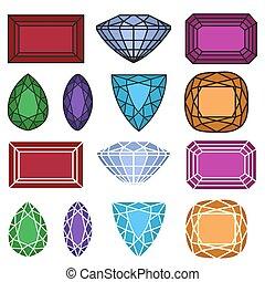 jewelry gemstones set