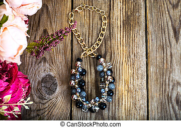 Jewelry gift on March 8. Studio Photo