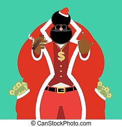 jewelry., guy., cigarro, rico, oro, dólar, claus, dinero.,...