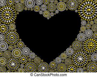Jewelry heart shape frame design