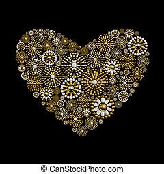 Jewelry heart shape love concept