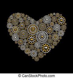 Jewelry heart shape ornament design