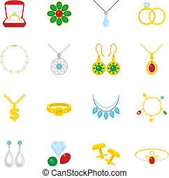 Jewelry icon flat