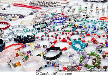 jewelry in a bargain market spread