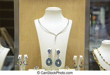 Jewelry in a shop window