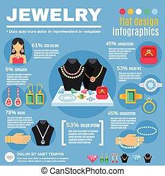 Jewelry Infographic Set
