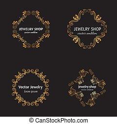 Jewelry logo design template