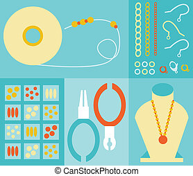 Jewelry Making - Jewelry making tools and elements.