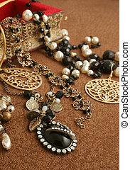 jewelry - overflowing jewelry box