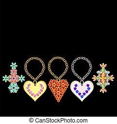 jewelry - Precious stones set in gold