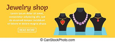 Jewelry shop banner horizontal concept