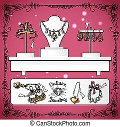 Jewelry Shop Display - Jewelry shop display with exclusive ...