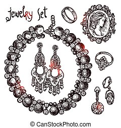 Jewelry Sketch Set