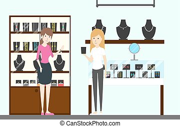 Jewelry store interior.