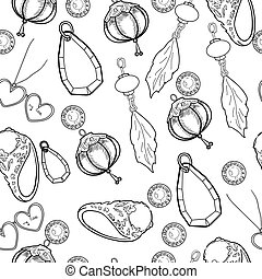 Jewelry Vector pattern of hand drawing