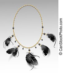 jewelry with black feathers