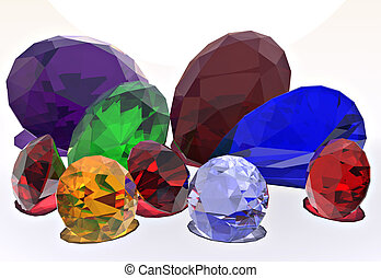 Jewels - An assortment of brilliant colored jewels