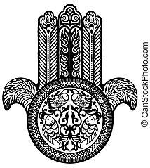 Jewish amulet. Hamsa