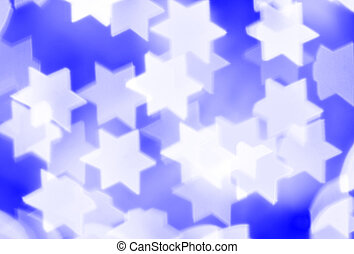 Jewish background - Blurred stars, may be used as background