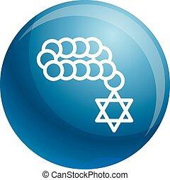 Jewish beads icon, outline style - Jewish beads icon....