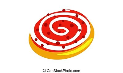 Jewish candy bakery icon animation best object on white background