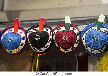 Jewish cap - Typical Jewish caps in PRague
