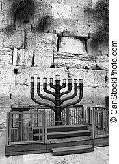 Jewish hanukkah candle holder
