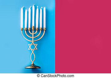 Jewish Hanukkah menorah