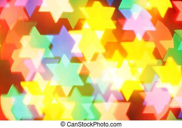 Jewish holiday background - Colorful jewish stars, may be...